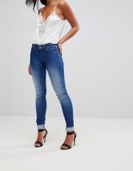 Salsa Wonder Push Up Mid Rise Skinny Jean - Blue