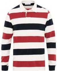 Samsøe & Samsøe Albee Long Sleeed Striped Rugby Blue/Red/Cream men M