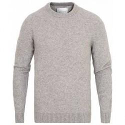 Samsøe & Samsøe Butler Wool/Yak Crew Neck Pullover Grey Melange