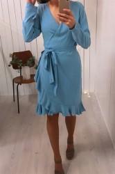 Samsøe Samsøe - Kjole - Limon LS Dress - Niagara