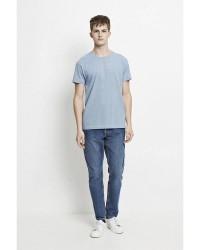 Samsøe & Samsøe Kronos Stripe SS T-Shirt (COBOLT BLÅ, SMALL)