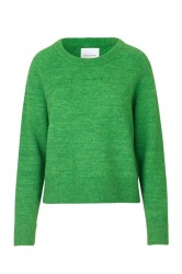 Samsøe Samsøe - Strik - Nor O-Neck Shirt - Green Melange
