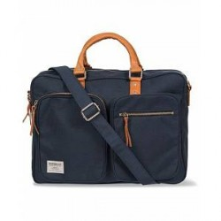 Sandqvist Arne Cordura/Leather Breifcase Blue