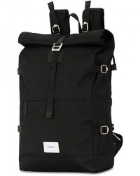 Sandqvist Bernt Cordura Eco Made Roll Top Backpack Black men One size Sort