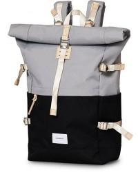 Sandqvist Bernt Cordura Eco Made Roll Top Backpack Grey/Black men One size Sort,Grå