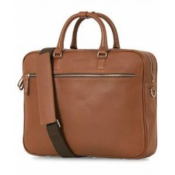 Sandqvist Dag Leather Briefcase Cognac Brown