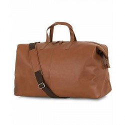 Sandqvist Damien Vegetable Tanned Leather Weekendbag Cognac Brown
