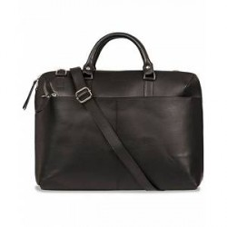 Sandqvist Dustin Leather Laptop Bag Black