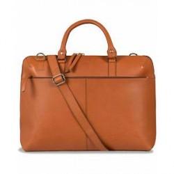 Sandqvist Dustin Leather Laptop Bag Cognac Brown