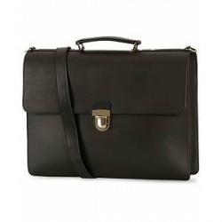 Sandqvist Jan Leather Briefcase Black
