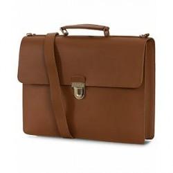 Sandqvist Jan Leather Briefcase Cognac Brown