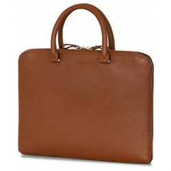 Sandqvist Myrtel Vegetable Tanned Leather Portfolio Cognac Brown