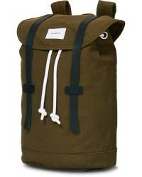 Sandqvist Stig Canvas Backpack Olive men One size Grøn