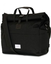 Sandqvist Tor Cordura Eco Made Roll Top Messenger Bag Black men One size Sort