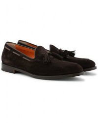 Santoni Wilson Tassel Loafer Dark Brown Suede men UK7 - EU41 Brun