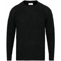 Saturdays NYC Miguel Waffle Knit Sweater Black