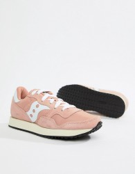 Saucony DXN vintage trainer in pink - White