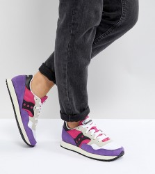 Saucony Dxn Vintage Trainers In Pink and Purple - Yellow