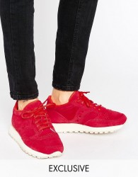 Saucony Exclusive Jazz O Suede Trainers In Red - Red