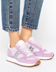 Saucony Exclusive Jazz Original Trainers In Lilac & Silver - Purple