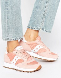 Saucony Exclusive Jazz Original Trainers In Pink & White - Pink