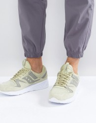 Saucony Grid 8500 HT Suede Trainers In Green S70370-2 - Green