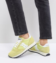 Saucony Jazz Original Trainers In Yellow - Cream