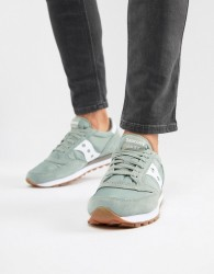 Saucony Jazz Original Vintage Trainers In Green S2044-436 - Blue