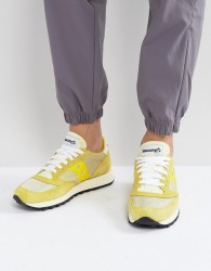 Saucony Jazz Original Vintage Trainers In Yellow S70368-2 - Yellow