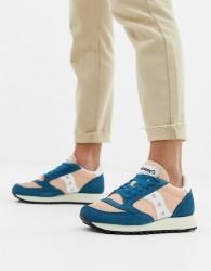 Saucony Pink and Blue Jazz Original Vintage Trainers - Multi