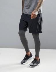 Saucony Running Interval 2-In-1 Shorts In Black SA81185-BKBK - Black