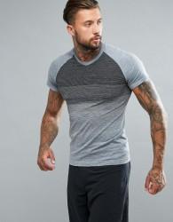 Saucony Running Runlife Seamless T-Shirt In Grey SAM800028-FSHBK - Grey