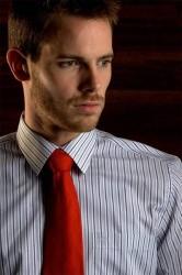 Scandinavian Prestige Skjorte - Grå med hvide og mørkegrå striber (1 stk)