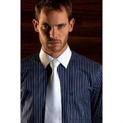 Scandinavian Prestige Skjorte - Sort og blå skjorte med striber (1 stk)