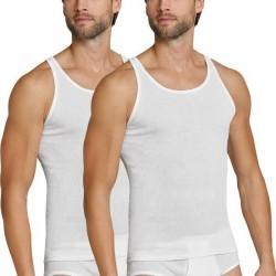 Schiesser 2-pak Original Classics Double Rib Undershirts - White * Kampagne *