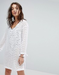 Seafolly Broderie Beach Cover Up - White