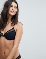 Seafolly wild at heart underwire bikini top - Black
