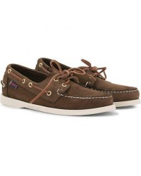 Sebago Docksides Boat Shoe Dark Brown Nubuck men US11 - EU45 Brun