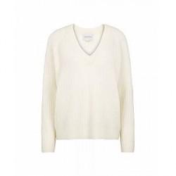 Second Female Alissa knit v-neck (Offwhite, XLARGE)