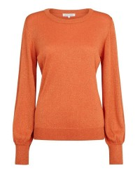 Second Female Hafnia Knit O-Neck 51447 (Orange, SMALL)