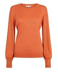 Second Female Hafnia Knit O-Neck 51447 (Orange, SMALL)