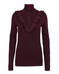 Second Female Idal Knit T-neck (Bordeaux, MEDIUM)