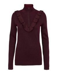 Second Female Idal Knit T-neck (Bordeaux, MEDIUM)