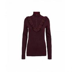 Second Female Idal Knit T-neck (Bordeaux, XLARGE)