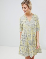 See U Soon Dress in Tapestry Weave Fabric - Yellow