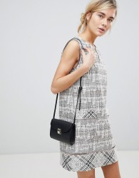 See U Soon Shift Dress in Tweed and Jacquard Mix - Brown