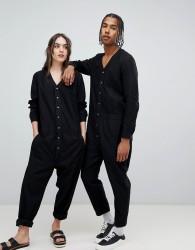 Seeker Boilersuit in Organic Hemp Cotton - Black