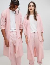 Seeker Kimono Style Lab Coat in Organic Cotton - Pink