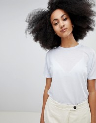 Seeker Print Insert T-Shirt in Organic Cotton - Blue