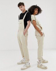 Seeker unisex pocket overalls in organic hemp - Beige
